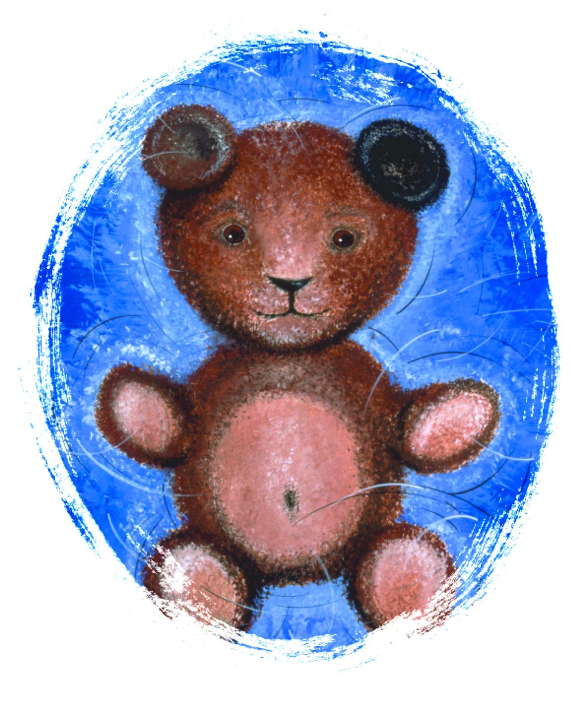 Teddyovalblau